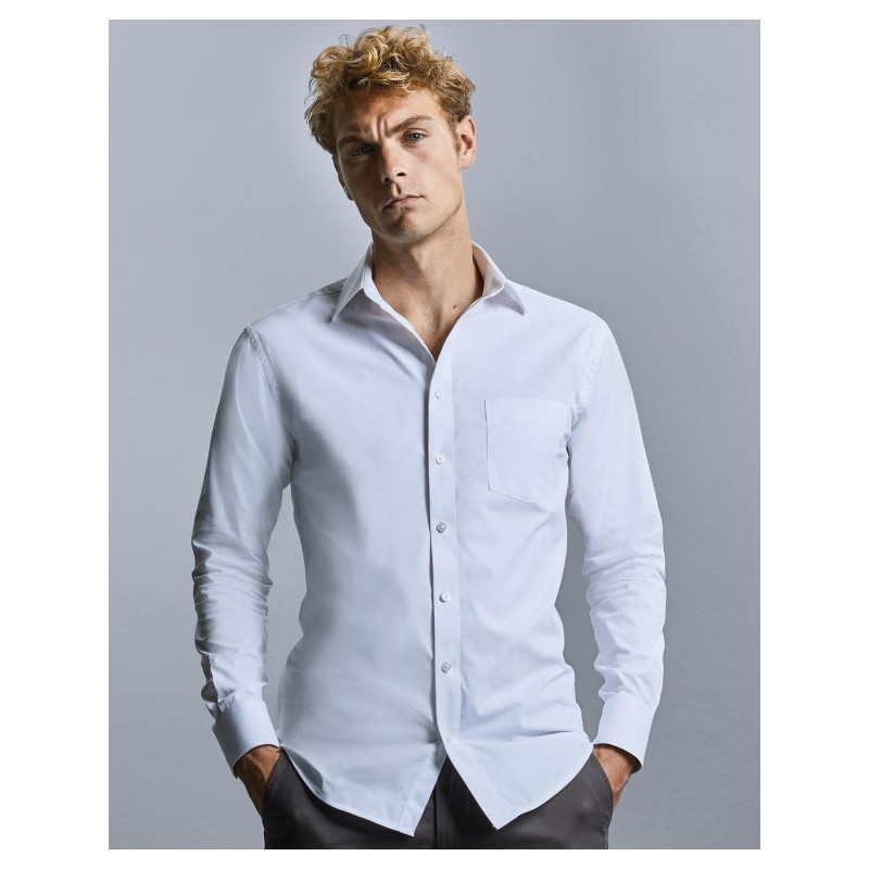 """Chemise """"Russel"""" blanche manches longues ref : 025.00"""