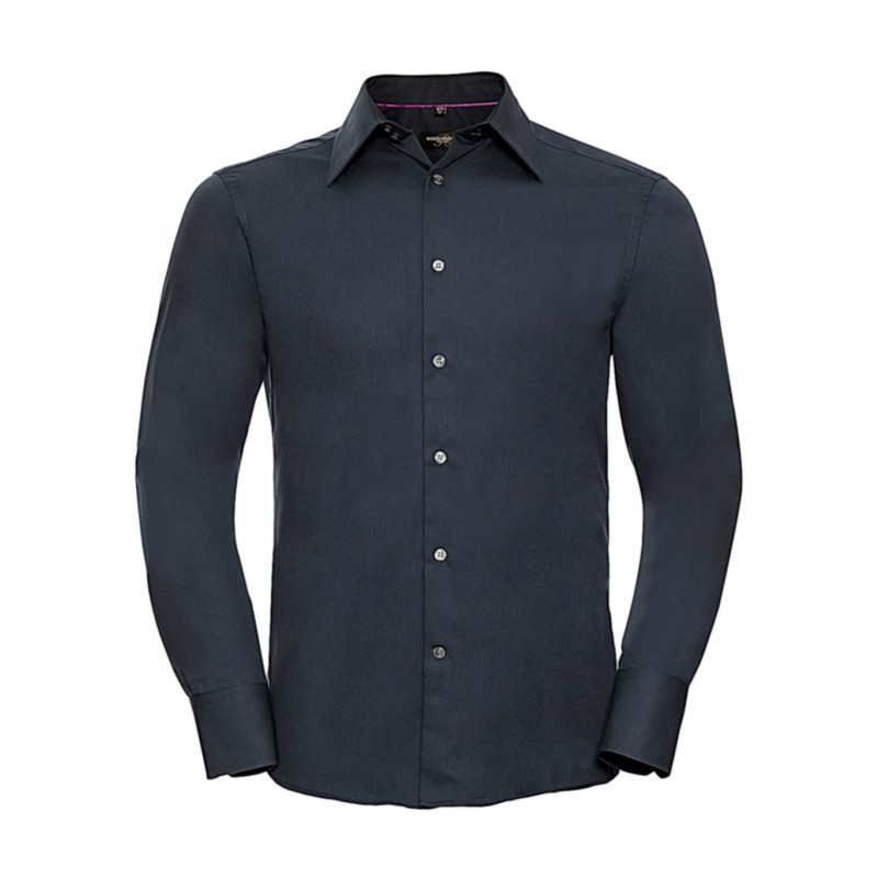"""Chemise """"TENCEL FITTED"""" blanche manches longues ref : 754.00"""