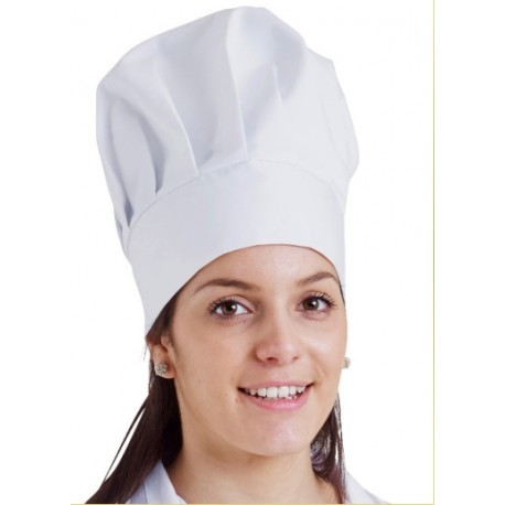 Toque en poly/coton blanc REMI CONFECTION - ref: 071