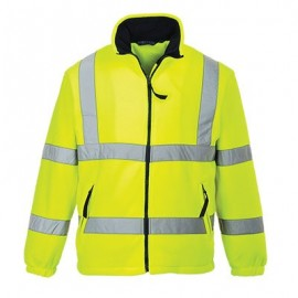 POLAIRE HI-VIS DOUBLE FILET JAUNE - F300
